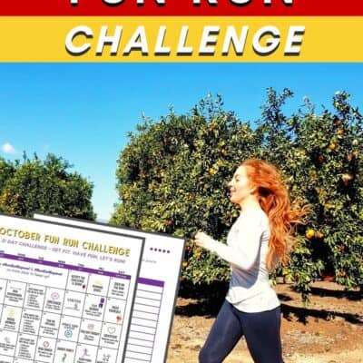 Fun Run Challenge – October Running Calendar Free Printable
