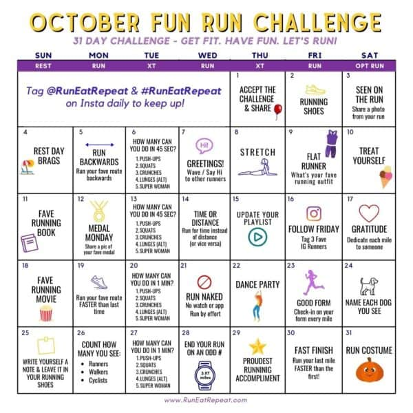 Fun RUN Instagram Challenge @RunEatRepeat