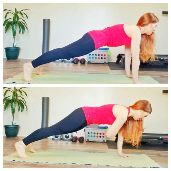 Plank Taps Runner Workout
