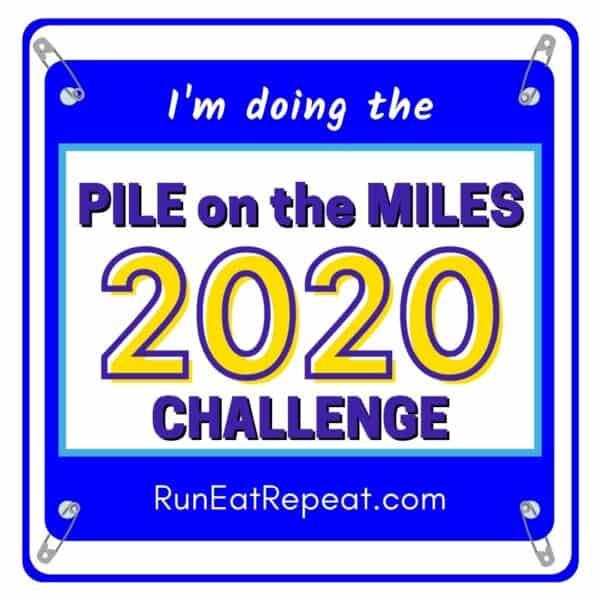 Pile on the Miles Running Challenge bib