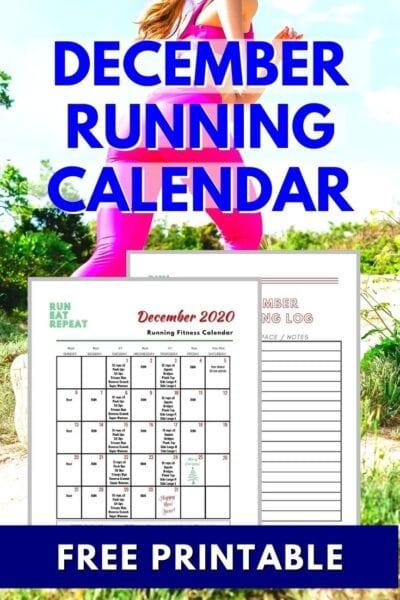 Free Running Plan December Calendar 2020