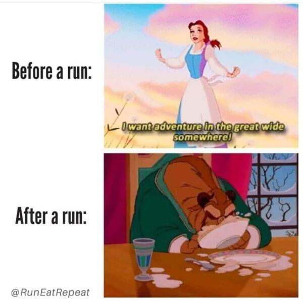 Funny Running Instagram @RunEatRepeat meme