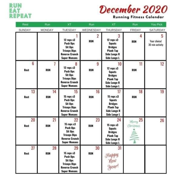 Calendario de desafíos de carrera libre