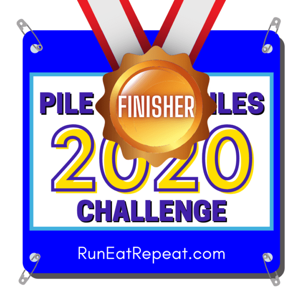 Pile on the Miles Virtual Running Challenge Finish logo