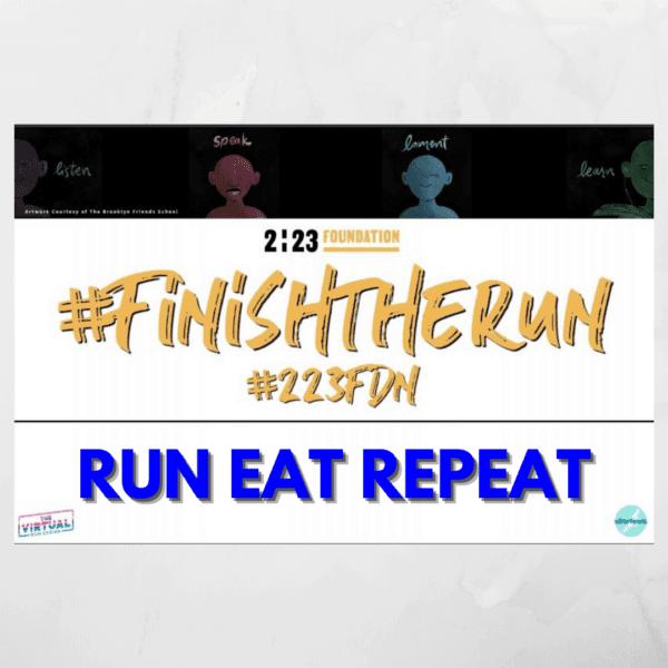 Finish the Run Virtual Race Bib