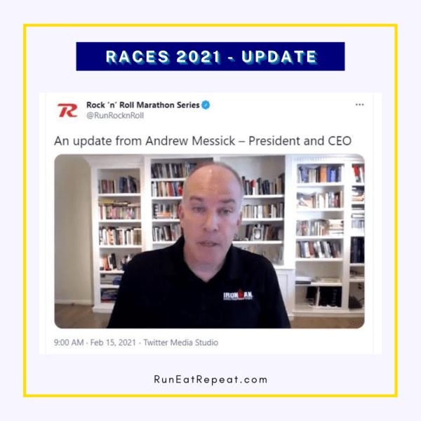 Actualización del maratón 2021 Director de la carrera Rock N Roll