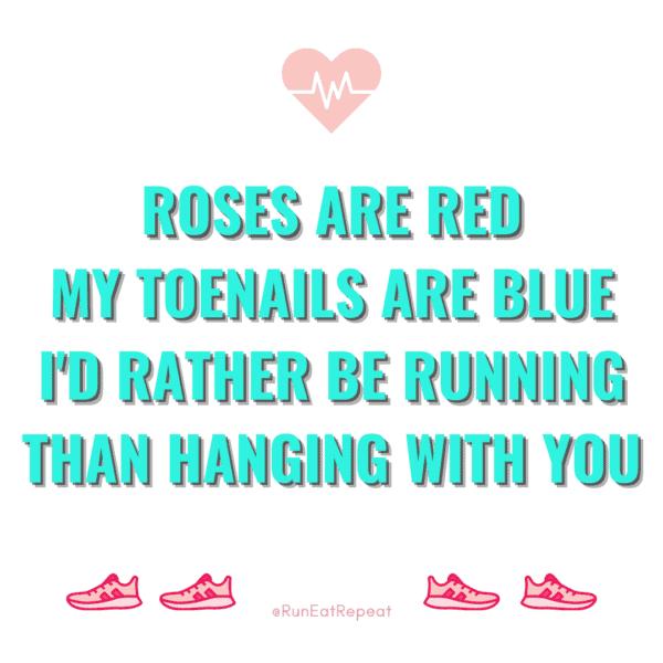 Funny Runner Valentine's Day cards memes 2021