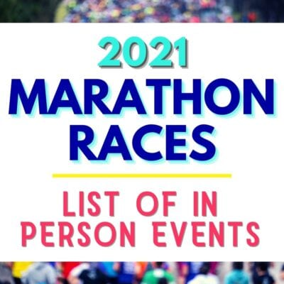 2021 Marathon Race Updates and Announcements