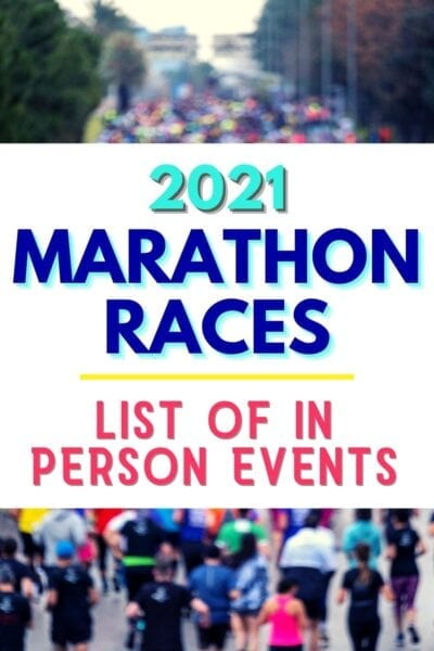 2021 Marathon Races List