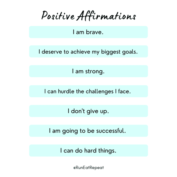 Positive affirmations for runners