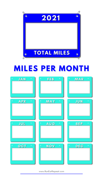 Running Miles Instagram Story Template