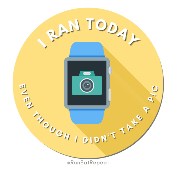 Funny Running Badge I Ran Today Even Though I Didn't Take a Pic