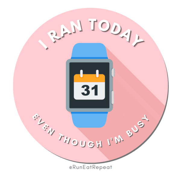 Funny Running Badge I Ran Today Even Though I'm Busy