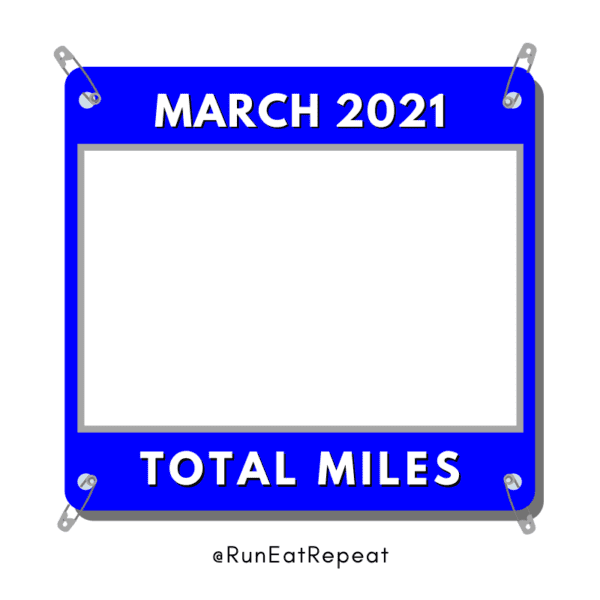 Total Miles Running Instagram Template