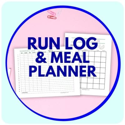 Free RUNNING LOG and MEAL PLANNER for Runners
