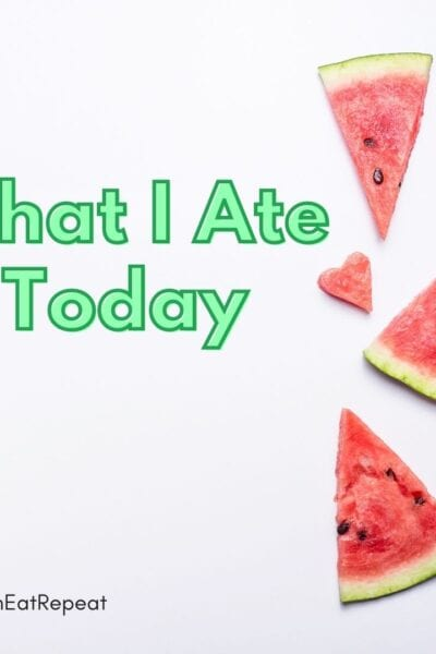 What I ate today Food Diary Runner Week example diet