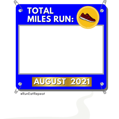 August Miles Total 2021 – Running Template to Share on Instagram & Facebook