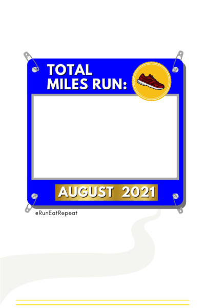 Monthly Miles Running post for Instagram or Facebook