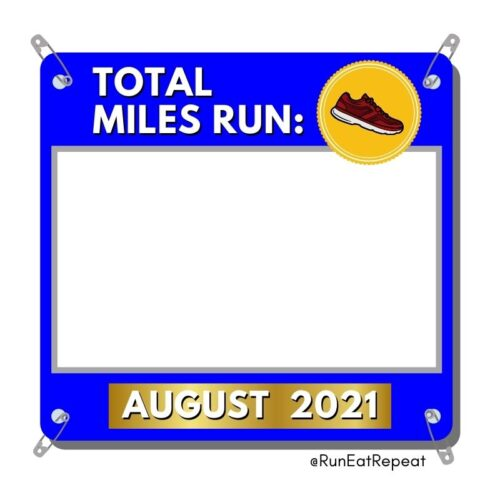 Monthly Miles Run Template for Instagram or Facebook