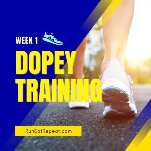 Run Disney Marathon Training Week 1