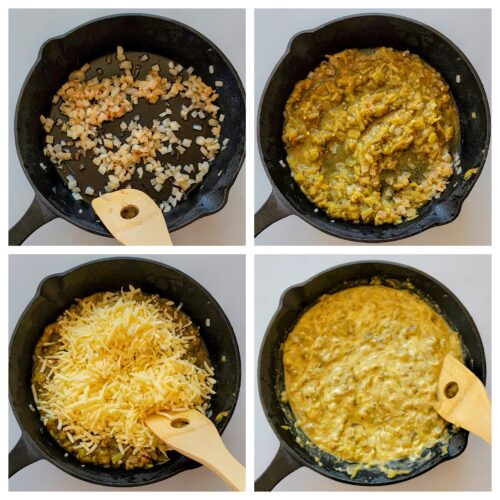 how to make green chile queso recipe
