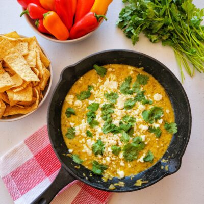 Easy Green Chile Queso Recipe