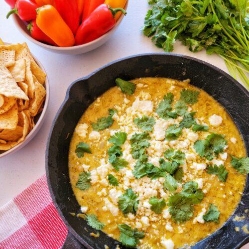 Mexican food blog easy queso recipe
